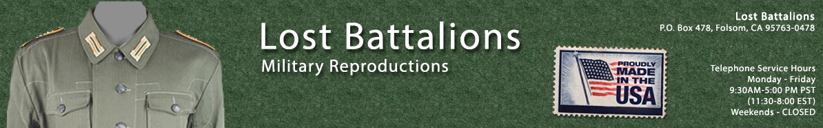 Lost Battalions site main banner